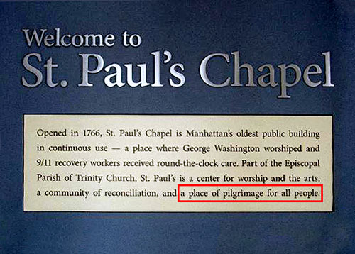 St. Paul's Chapel - the Place For Pilgrimages